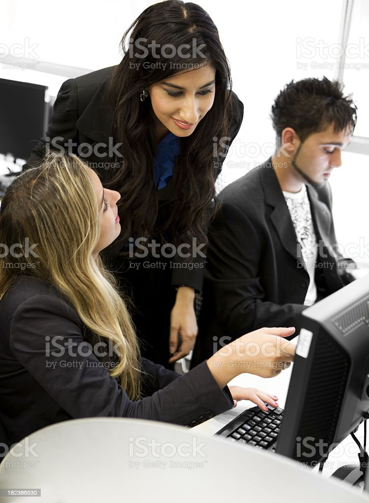 further education: help from teacher royalty-free stock photo