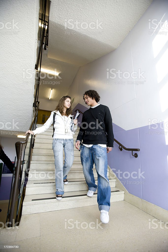 further education: home time royalty-free stock photo