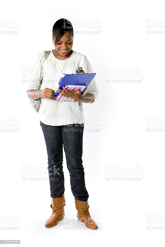 further education: last minute revision royalty-free stock photo