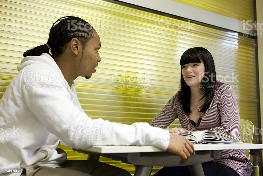 further education: studying together royalty-free stock photo