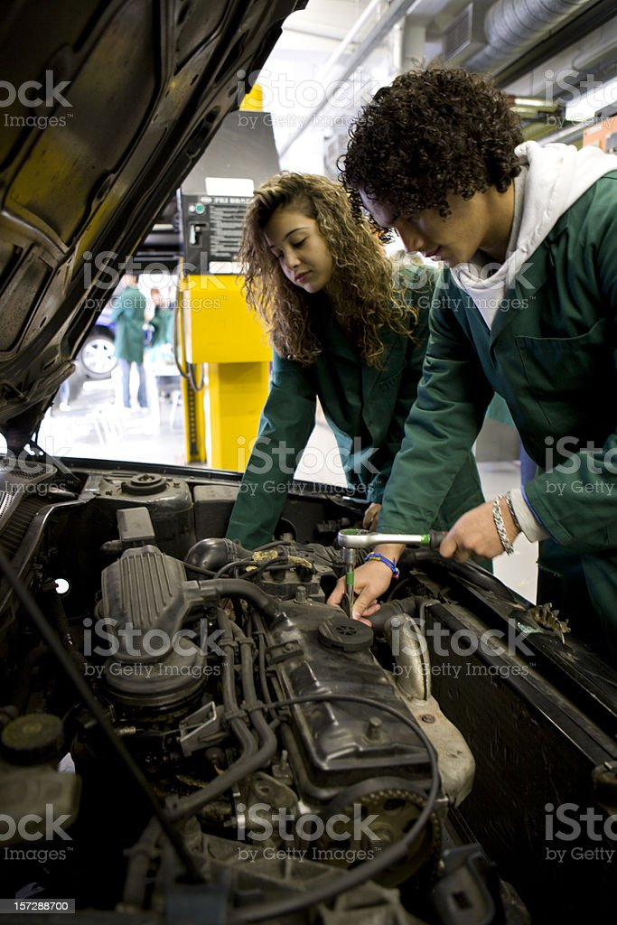 further education: under the bonnet royalty-free stock photo