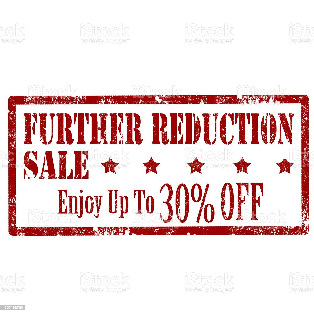 Further Reduction -stamp royalty-free stock photo