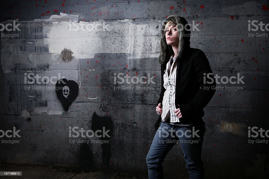Further Shot Of Indie Girl. royalty-free stock photo