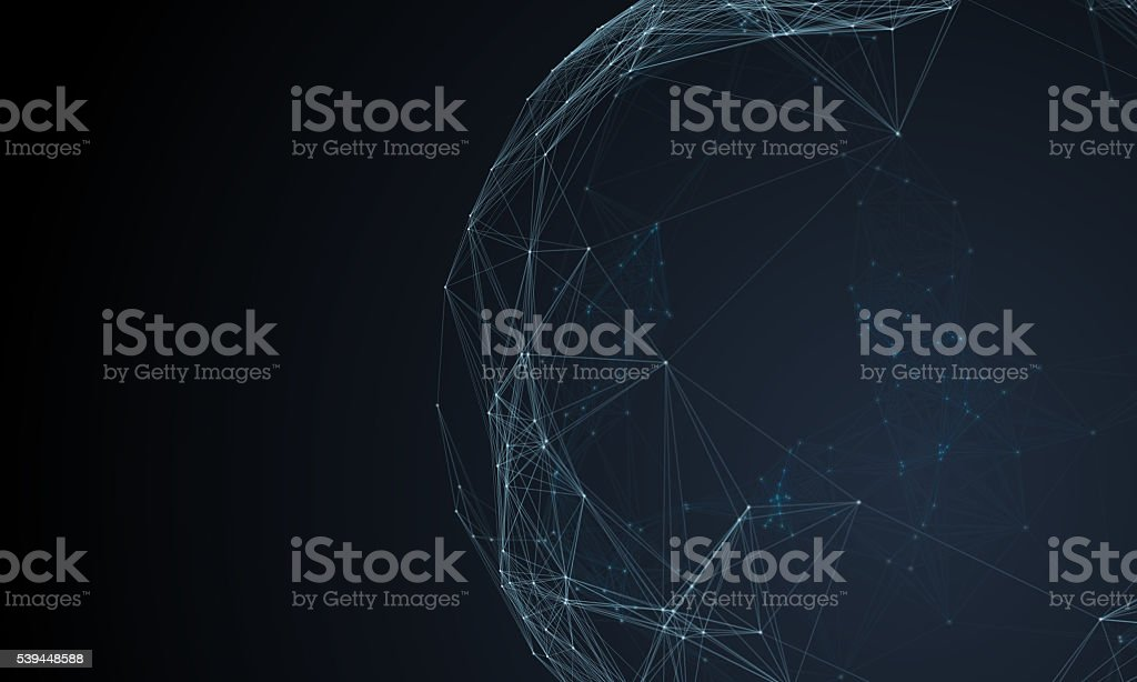 Furutistic network technology background stock photo