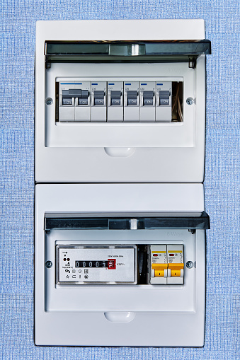 Fuse Box Controls Electricity In Home Stock Photo - Download Image Now