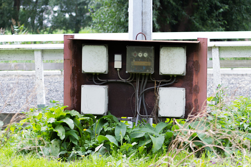 Fuse Box For Outside Lightpoles Stock Photo - Download Image Now