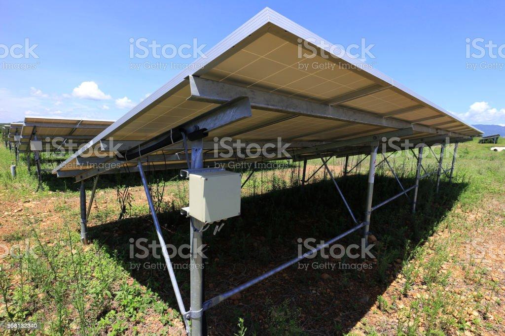 fuse box of solar farm installed under pv panels stock photo Farm Fuse Box