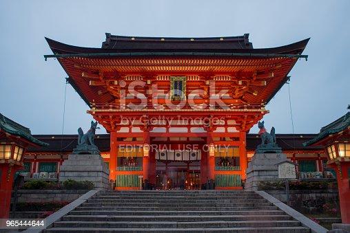 Fushimi Inari Taisha Shrine In The Evening Kyoto Japan - Stockowe zdjęcia i więcej obrazów Architekt
