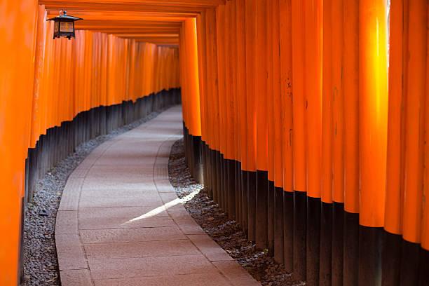 Fushimi Inari Taisha Shrine, Kyoto, Japan. Kyoto, Japan - February 4, 2015: A colour dSLR image of the Fushimi Inari Taisha Shrine, Kyoto, Japan. torii gate stock pictures, royalty-free photos & images