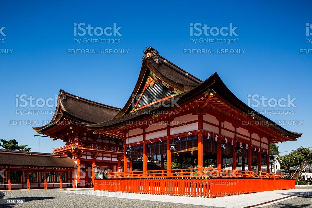 Fushimi Inari Torii Shinto Shrine Kyoto Japan royalty-free stock photo