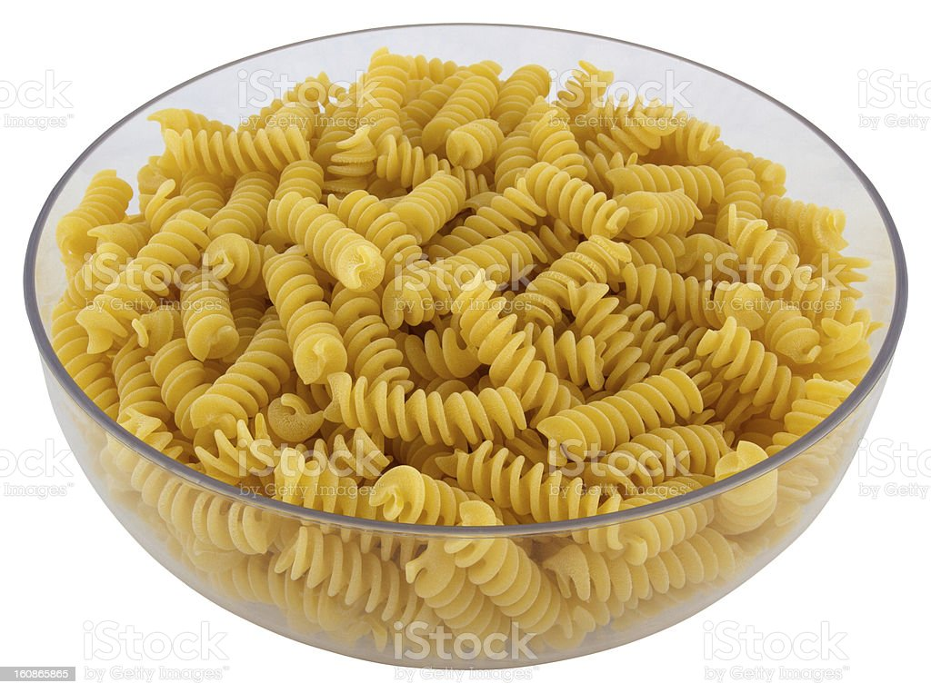 Fusili bowl Pasta royalty-free stock photo