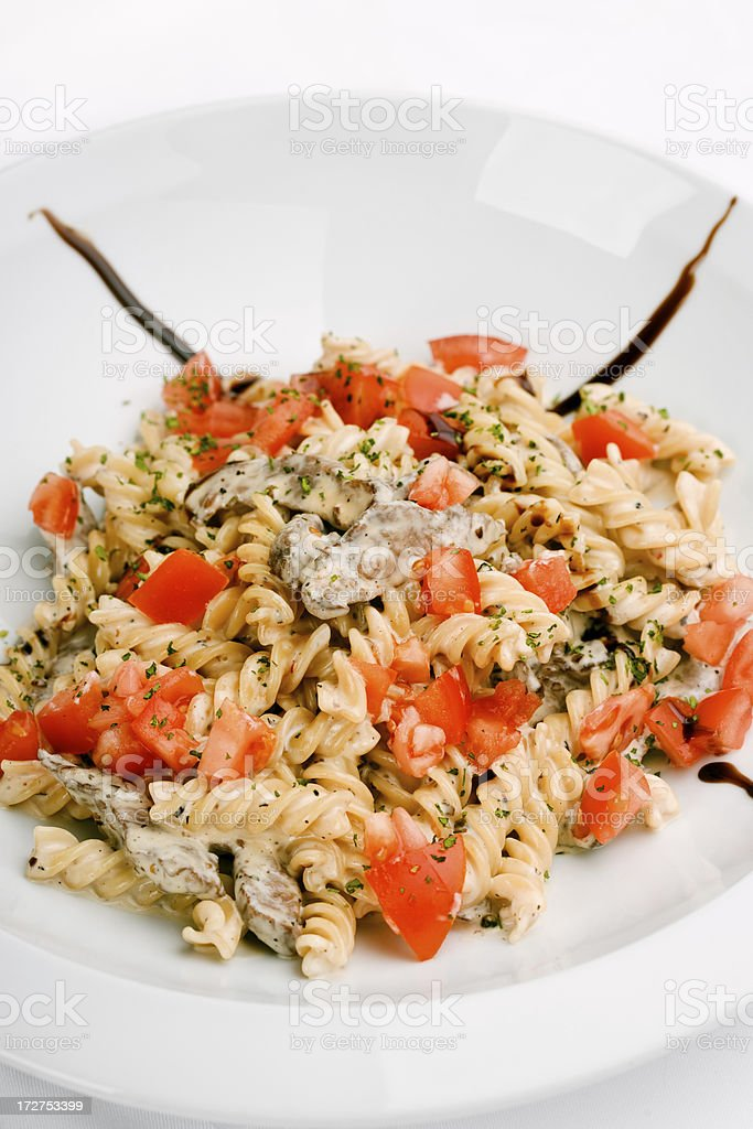 Fusilli pasta royalty-free stock photo