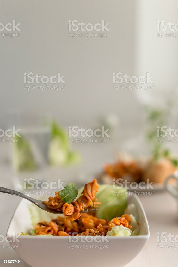 pasta fusilli stock photo