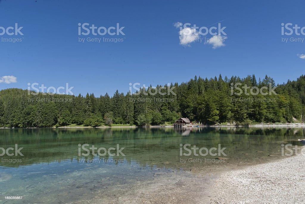 Fusine Lake royalty-free stock photo