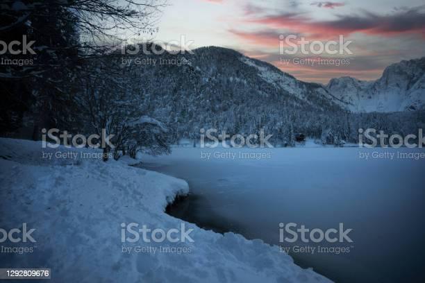 Photo of Fusine lake winter landscape