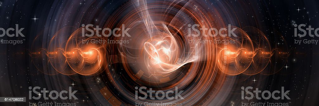 Fusion, 3D Illustration stock photo