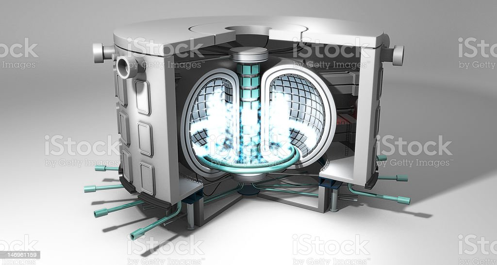 Fusion Power Reactor royalty-free stock photo
