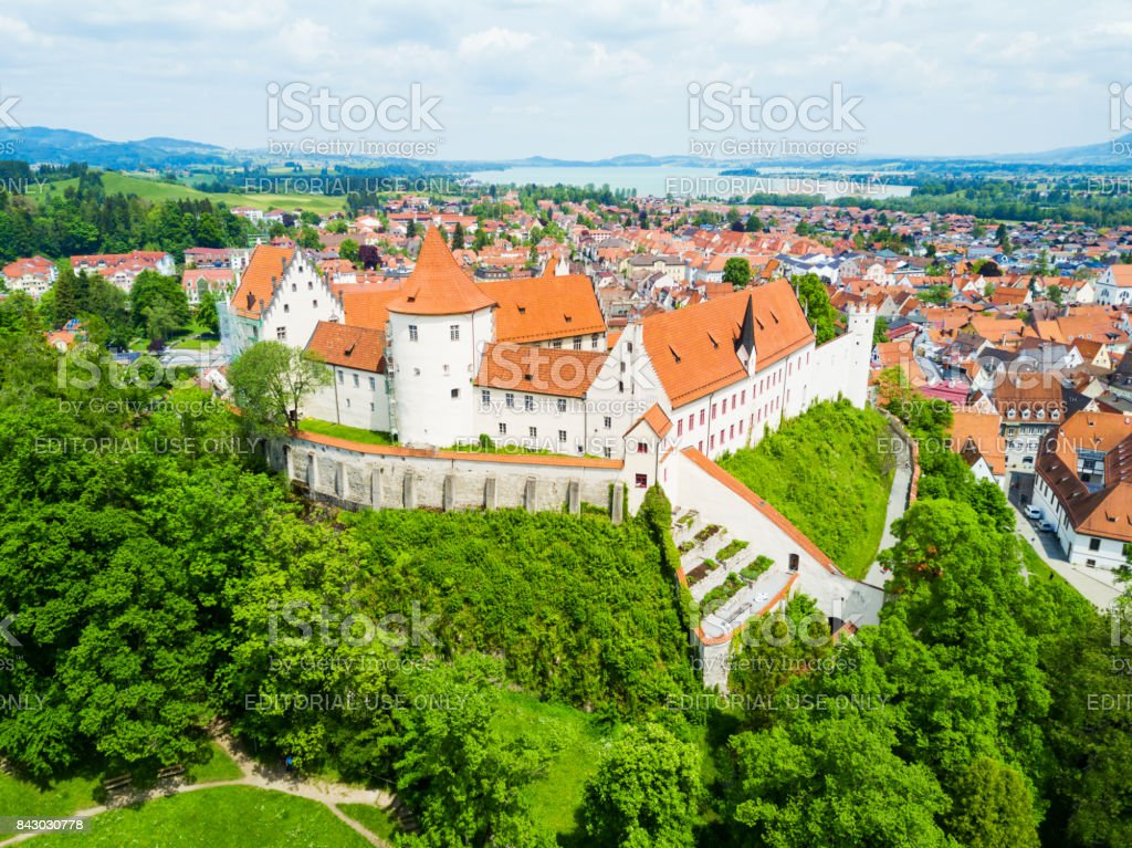 Fussen town aerial view stock photo