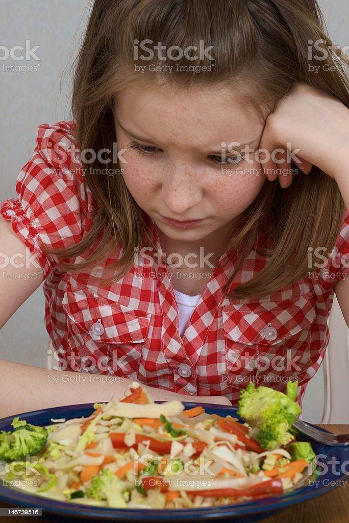 Fussy eater stock photo