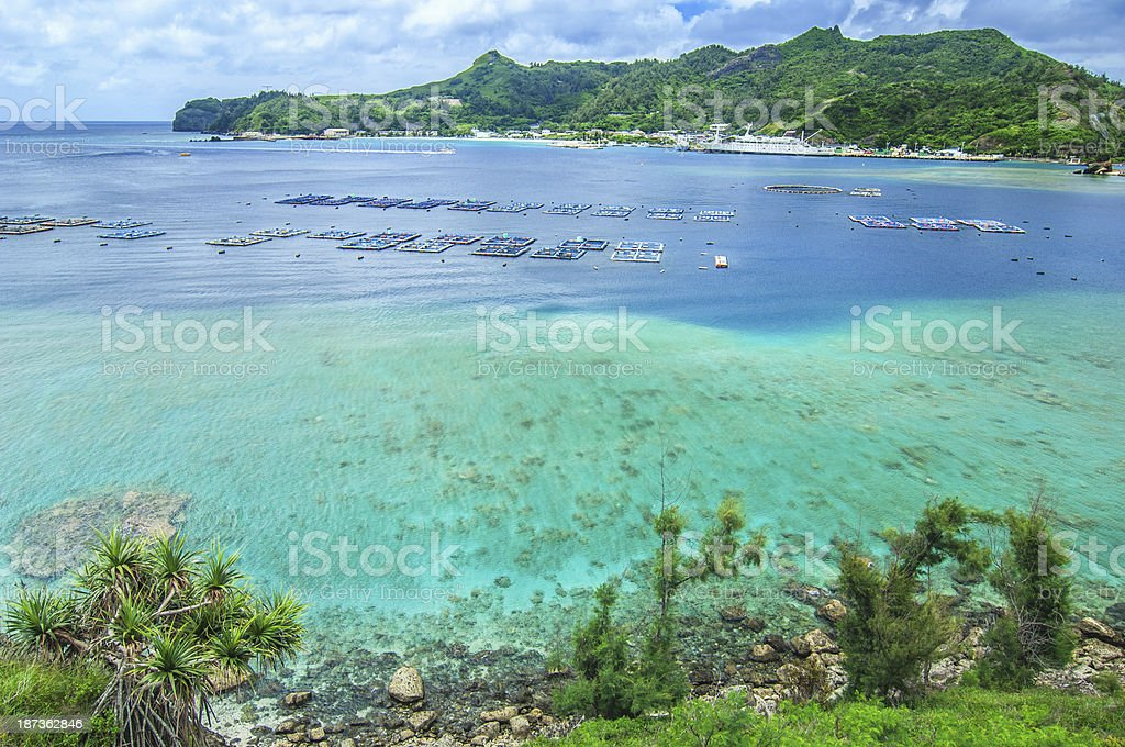 Futami Port - Ogasawara (Bonin) Islands stock photo