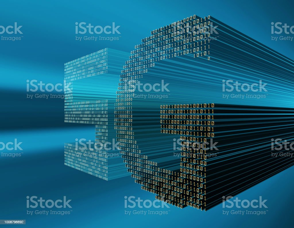 Future 5G broadband, network communication, future technology stock photo
