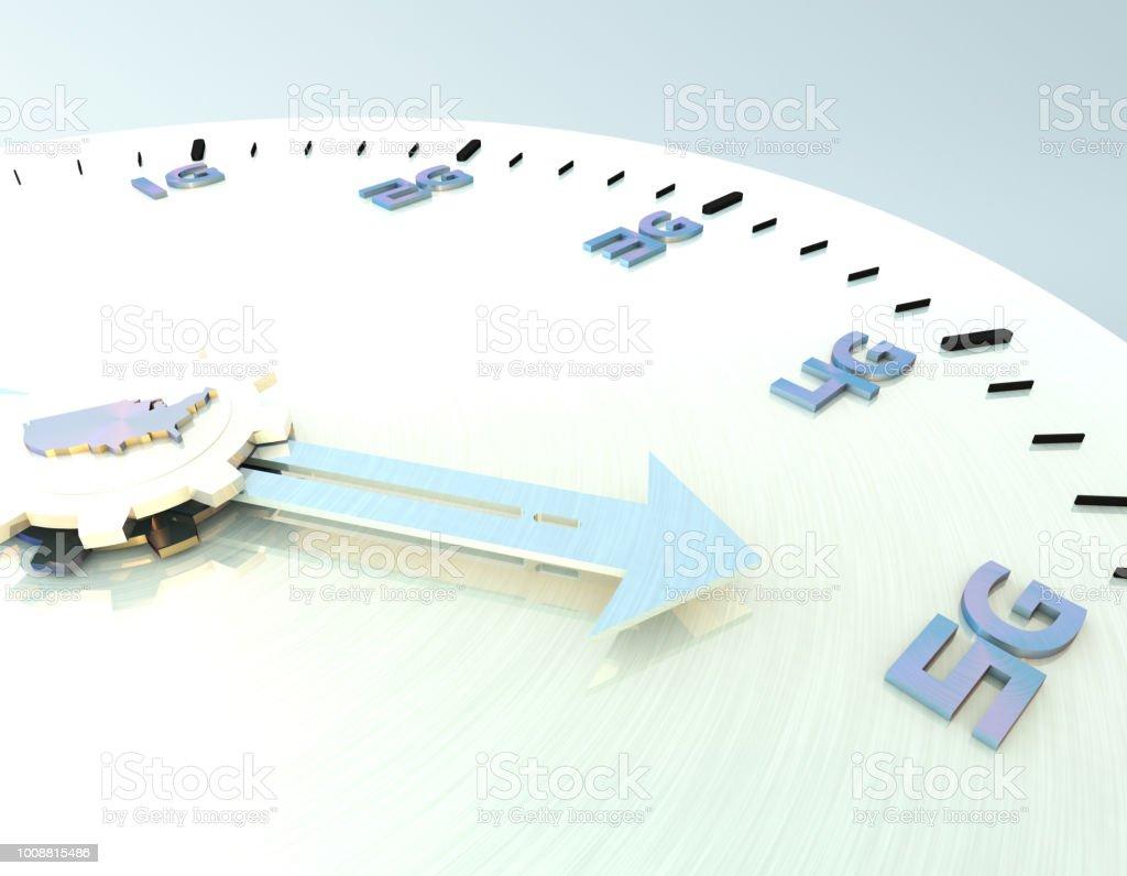 Future 5G à haut débit, réseaux de communication, des technologies futures, carte des États-Unis - Photo