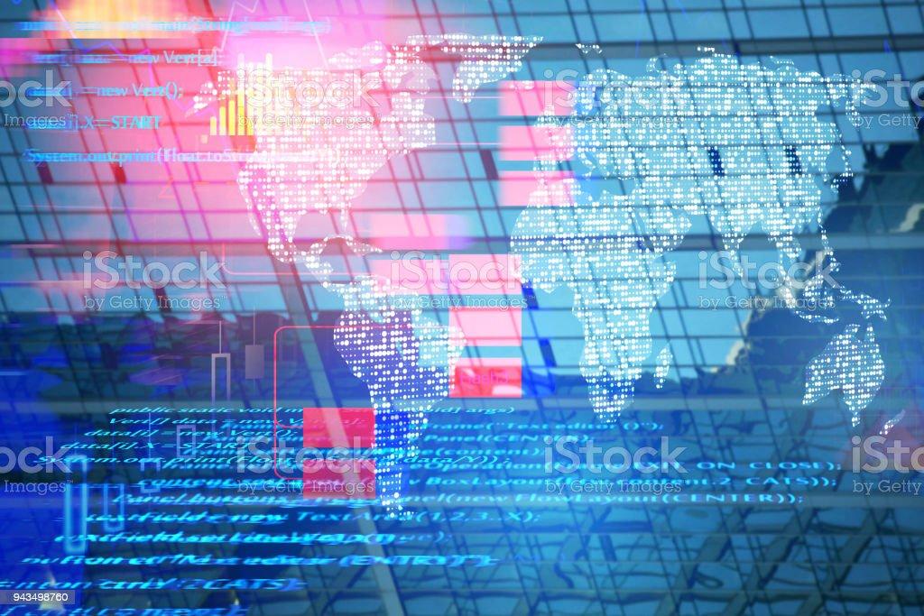Future and computing concept stock photo