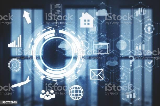 Future And Intelligence Concept - Fotografias de stock e mais imagens de Analisar