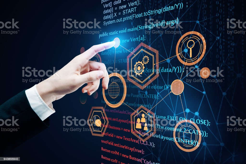 Future and programming concept stock photo