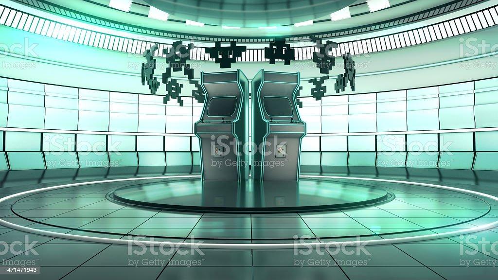 Future Arcade Hall stock photo