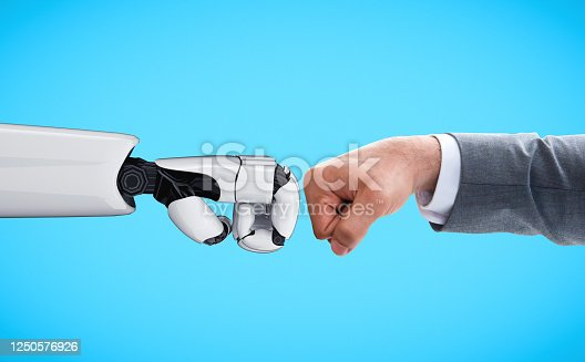 1050855372 istock photo Future artificial intelligence robot and cyborg. 1250576926
