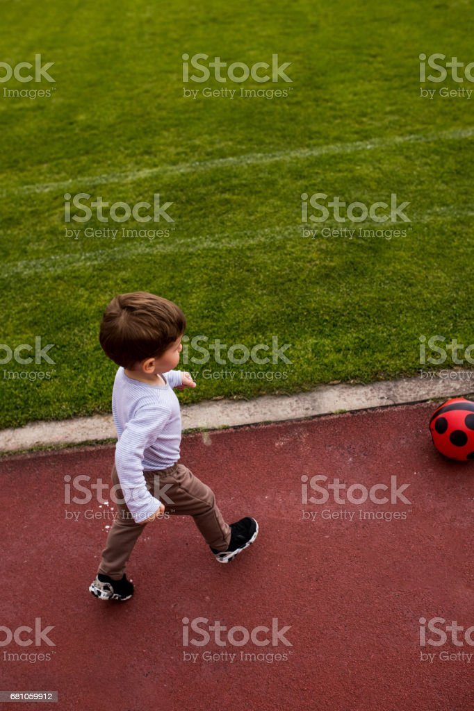 Future best soccer player royalty-free stock photo