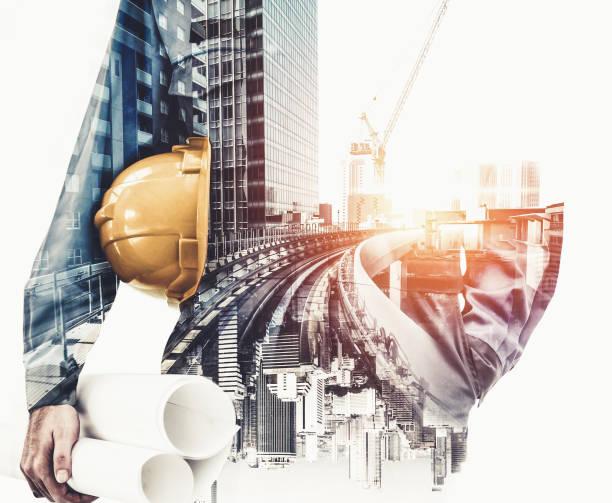 futuro proyecto de ingeniería de construcción de edificios. - ingeniero fotografías e imágenes de stock