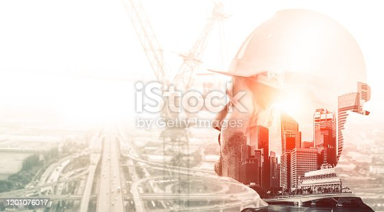 istock Future building construction engineering project. 1201076017