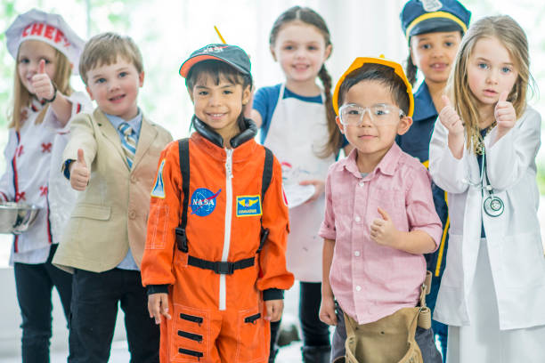 future careers - preschool student stock photos and pictures