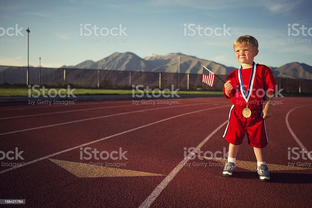 Futuro campeón olímpico - foto de stock