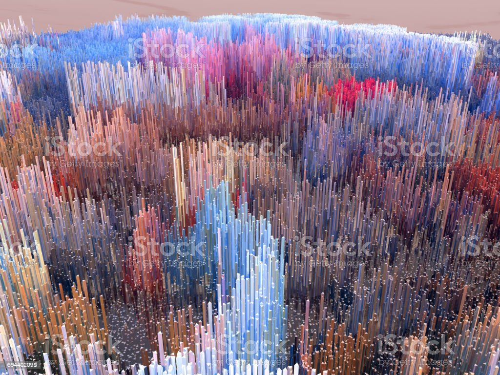 Future cities, skyscrapers, science fiction, histograms, sound waves, world stock photo