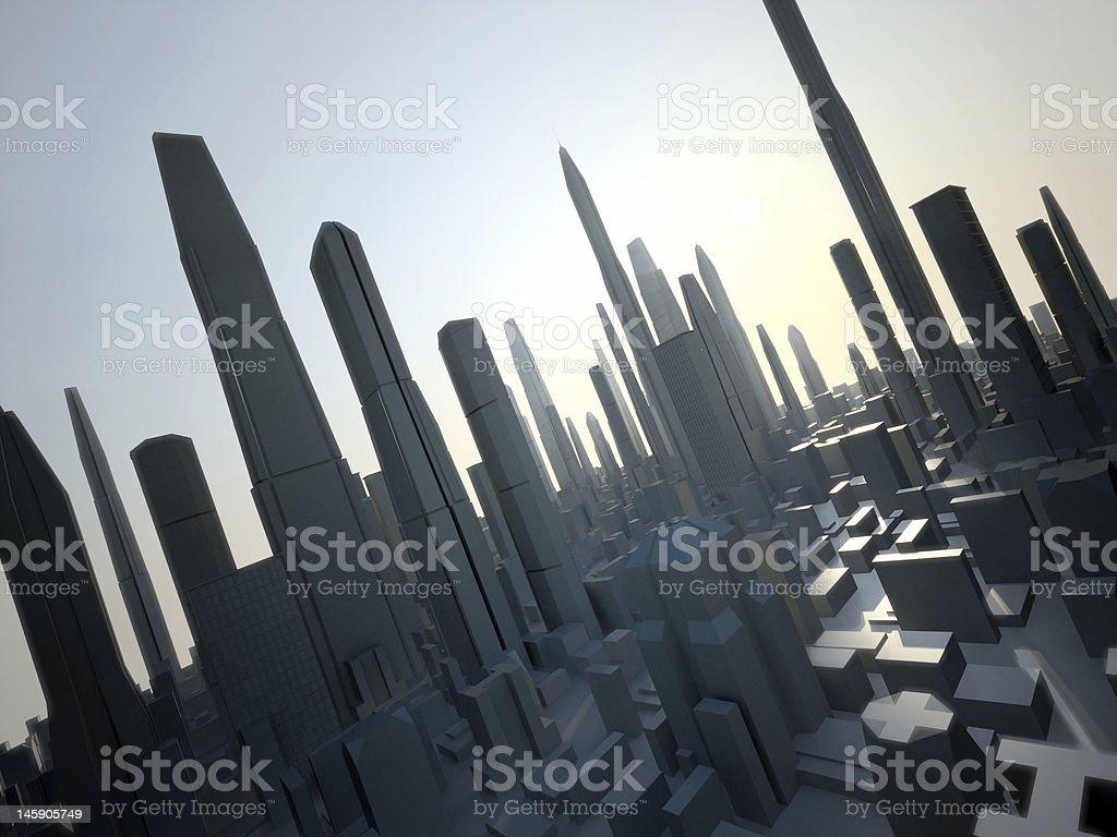 future city royalty-free stock photo