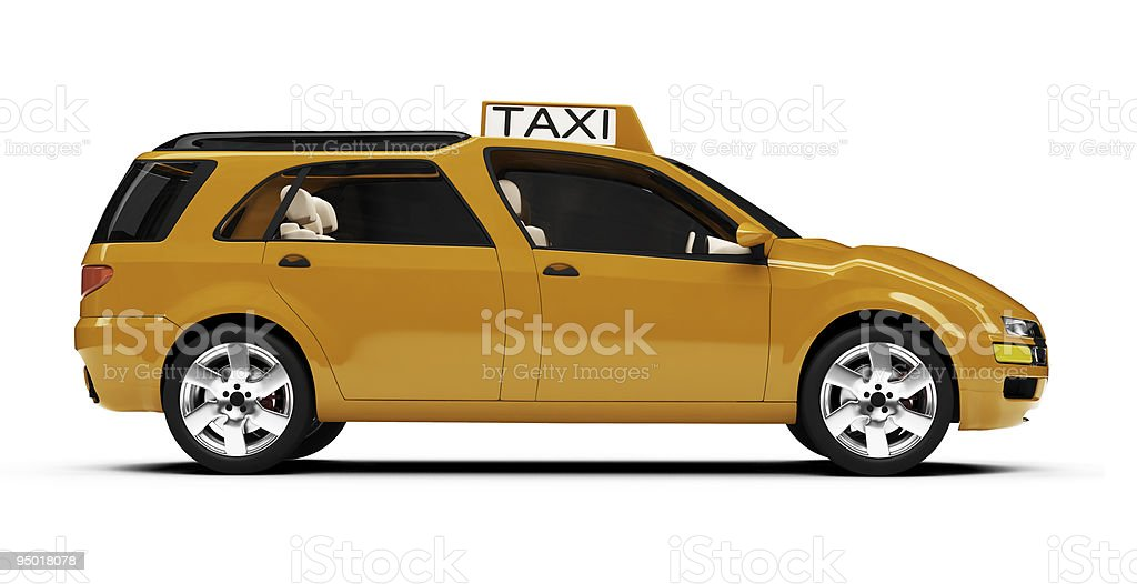 Future concept of taxi car isolated view stock photo
