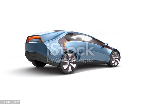 istock Future electric concept car. 3d rendering 629613822