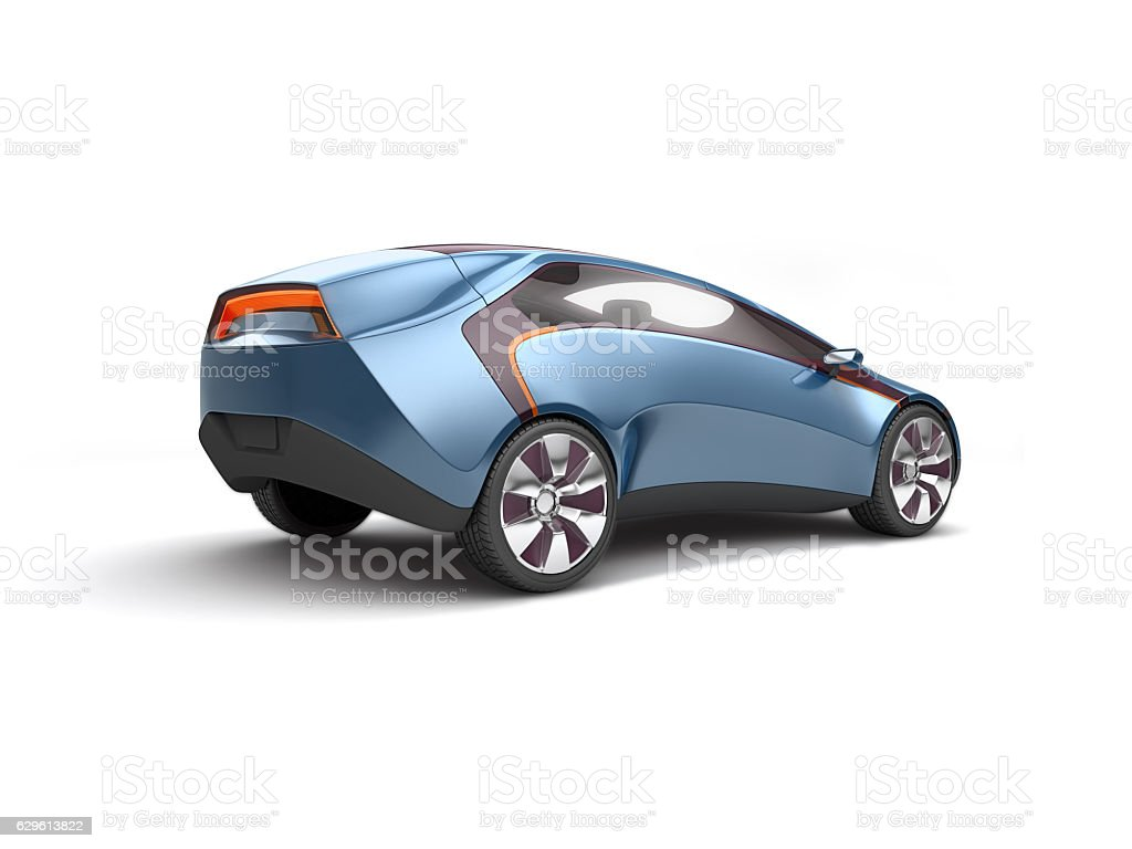 Future electric concept car. 3d rendering stock photo