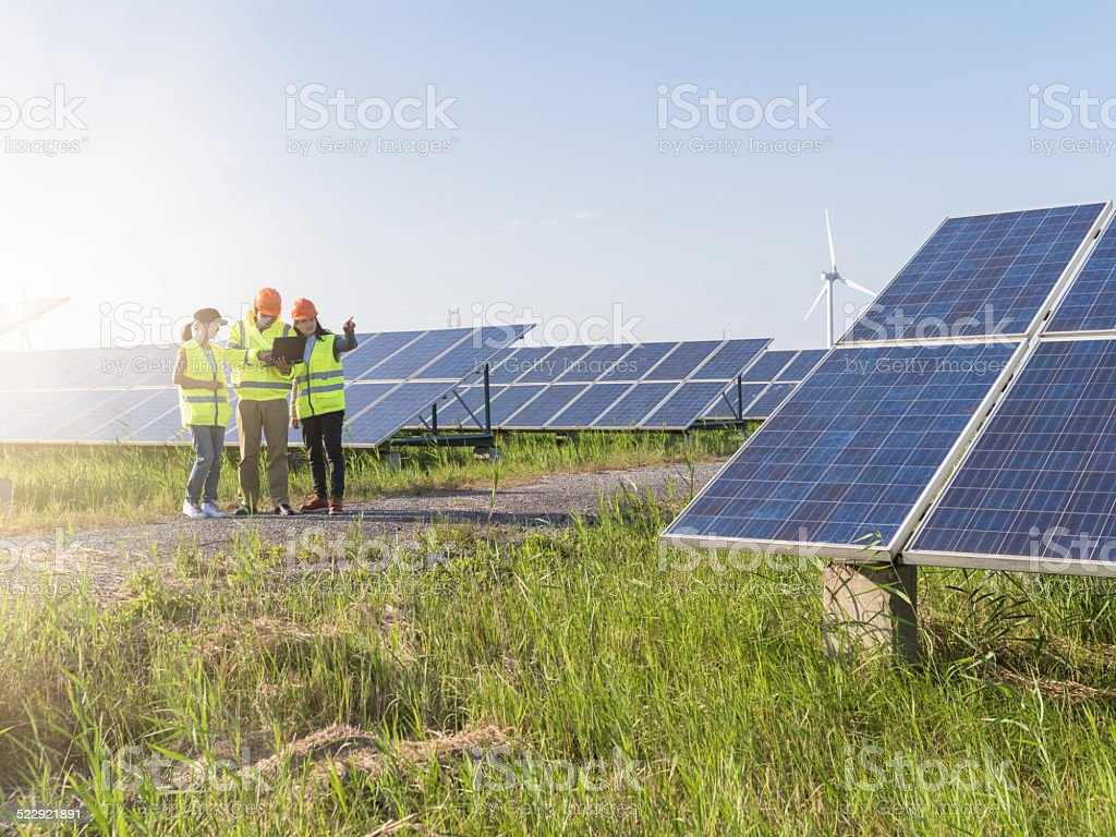 Future electrical production stock photo