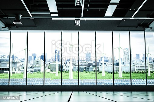istock Future empty building with clean power 531849782