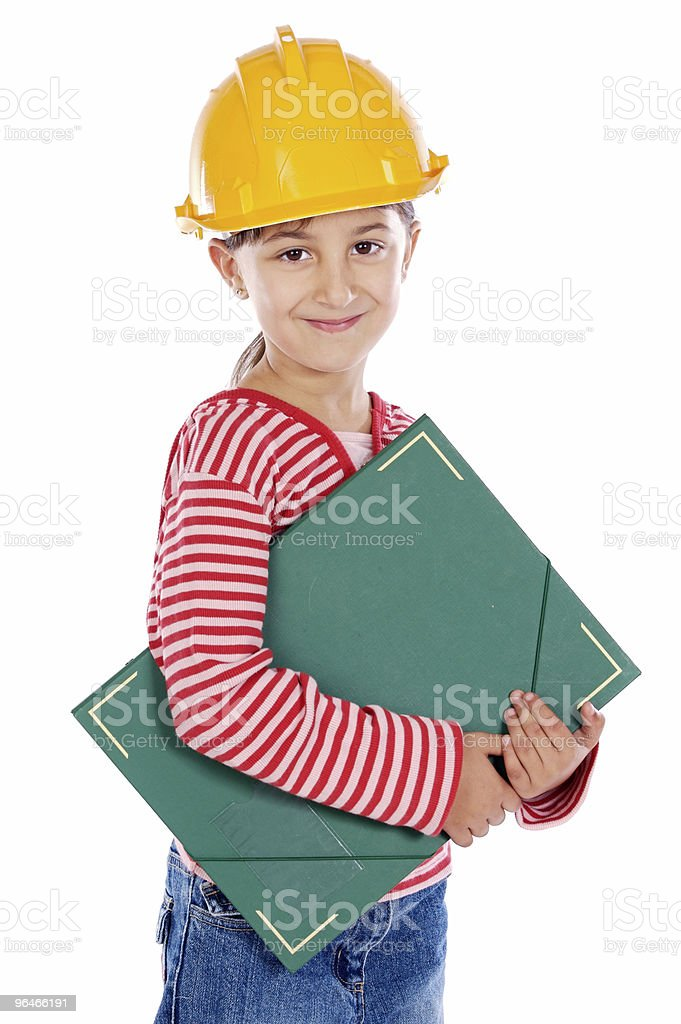 future engineer girl royalty-free stock photo