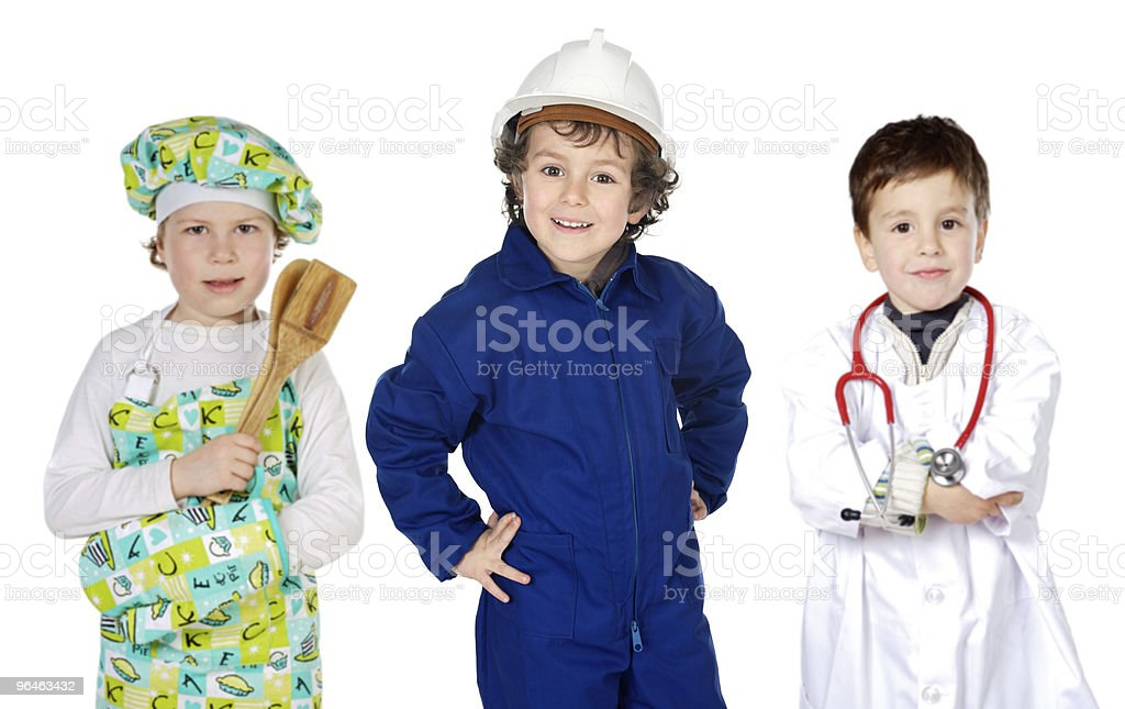 future generation of workers royalty-free stock photo