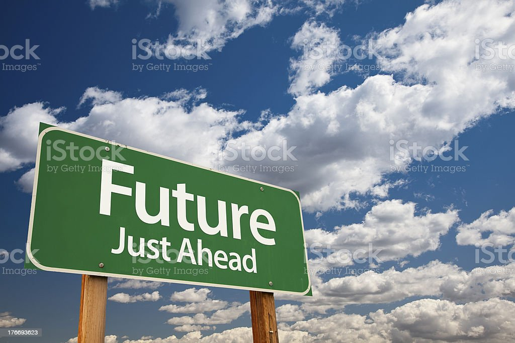 Future Green Road Sign royalty-free stock photo