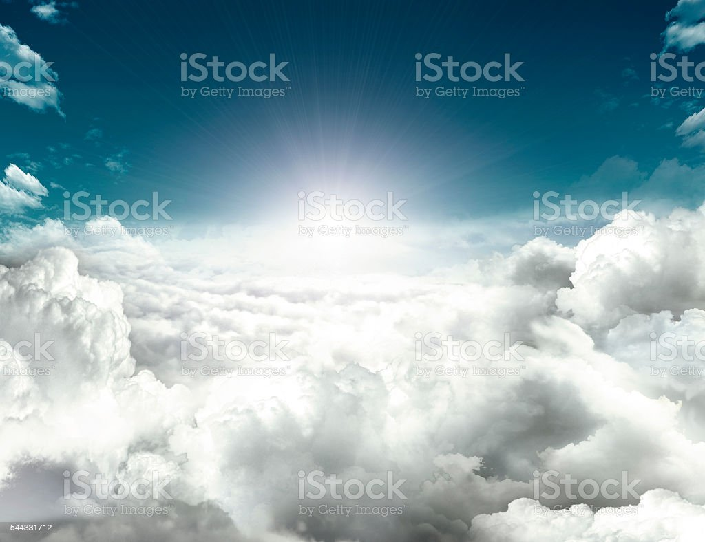 future hope in sky stock photo