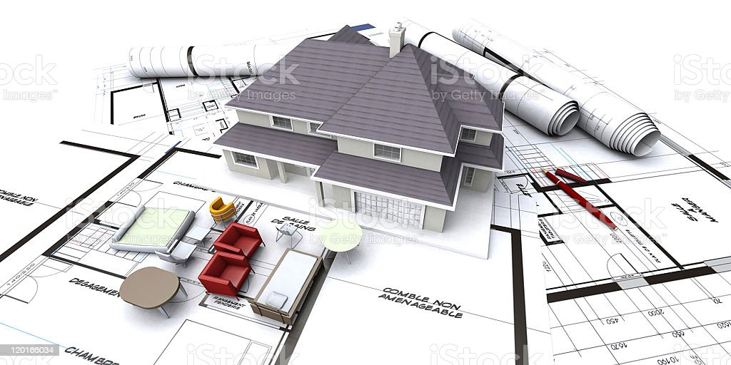 Future house planning royalty-free stock photo
