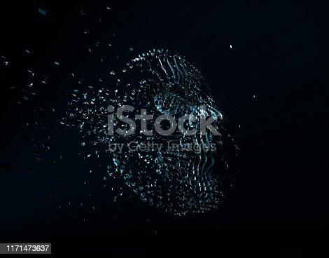 872670454 istock photo Future human technology, digital information technology, artificial intelligence and core 1171473637