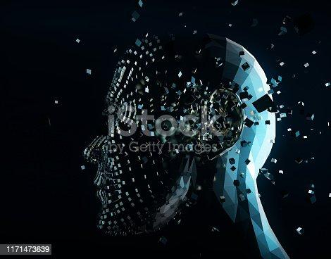 872670454 istock photo Future human technology, digital information technology, artificial intelligence and core 1171473639